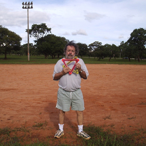 Jose Drummond with Orbiter in Brazil, record pic
